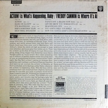 Freddie Cannon - Action Mono LP Back Cover