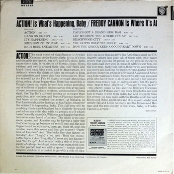 Freddie Cannon - Action Stereo LP Back Cover