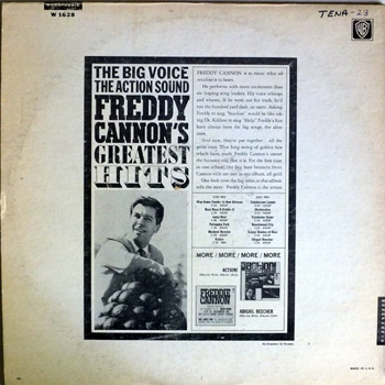 Freddy Cannon - Greatest Hits LP Mono Back Cover