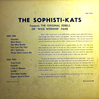 Sophisti-Kats LP Back Cover