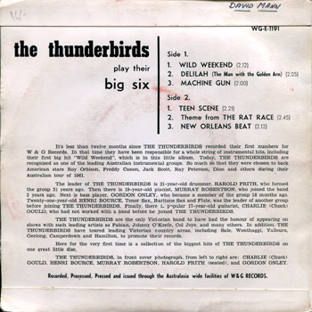 Thunderbirds EP Back Cover